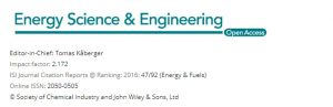 Energy Science & Engineering